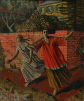 Artist Charles Mahoney: Fleeing figures, mid 1920s