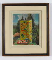 Artist Charles Mahoney: Still life with Snakes and Ladders board